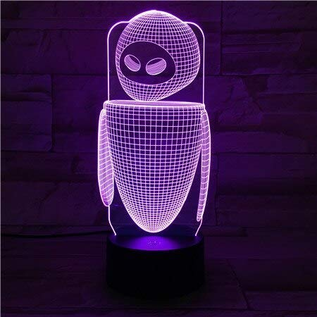 Robot Eva Tafellamp Slaapkamer EVE Decoratie Cartoon RGB Touch Sensor Kinderen Kids Gadget Gift Muur E Nachtlampje LED USB Decor A-879