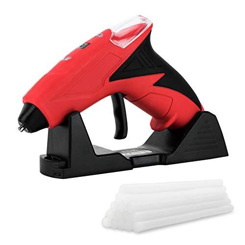 FL Mini pistola de pegamento caliente, pistola de pegamento caliente para niños, kit de pistola de pegamento termofusible de alta temperatura con 15 barras de pegamento, embalaje,...