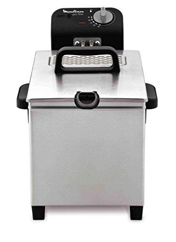 Moulinex AM205010 - Friggitrice semiprofessionale Pro First, colore: INOX/Nero, 4 L