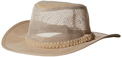 Dorfman Pacific Co. Men's Soaker Hat with Mesh Sides (Natural, Small/Medium)