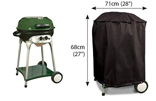 Bosmere Protector 6000 Storm Black Kettle BBQ Cover - Black, D700 3