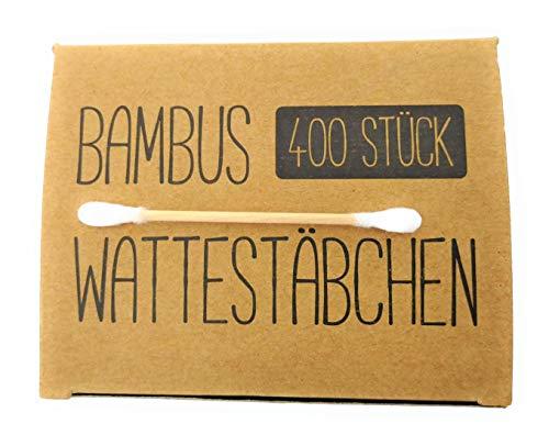 Lot de 400/800 bâtonnets en bambou de qualité supérieure - 100% biodégradables, compostables, durables et sans plastiques - Économisez la terre.