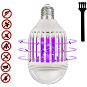 Mosquito Killer Lamp, Bug Zapper Light Bulb 2 in 1 Fly Traps Electric Fruit Flies Insect Zapper and E26 LED Lights for Home Kitchen Bedroom