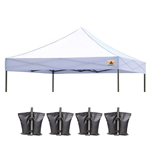 ABCCANOPY Replacement Tent Top Cover, Instant Pop up Canopy Top Cover ONLY, Bonus 4 Weight Bags (10x10, White)