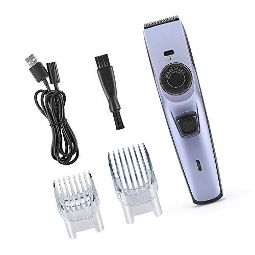 Eléctrico Corta Pelo, Longitudes Ajustables Recortadora de Pelo USB Recortadora de Cabello de Carga rápida Kit de corte de pelo Sin cable