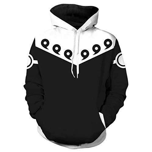 CHENMA Men Naruto 3D Print Pullover Hoodie Sweatshirt with Kangaroo Pocket (Color 24, Tag L/US M)