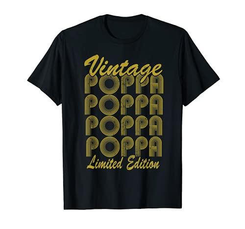 Familia 365 Retro Poppa Día del Padre Regalo Para Mí Camiseta