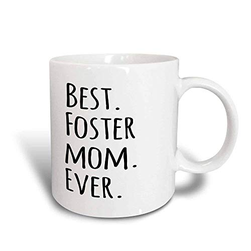 NA Taza de café Divertida mug_151525_3 Best Foster Mom Ever Foster Family Gifts Buena para el día de la Madre Taza mágica transformadora de Texto Negro, 11 onzas