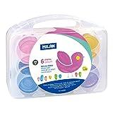 Milan 0353906 - Pack de 6 botes de pintura dedos