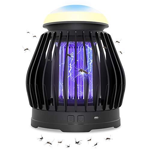 VITCOCO Lámpara Antimosquitos USB Camping Antimosquitos Atrapa Lampara para 3 en 1 Noche Lámpara LED 5 W Adecuado para el hogar al Aire Libre Portátil Control Multi-Insecto