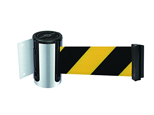No Custom Red//White Chevron Webbing Standard Belt End Red Caps Tensabarrier 897-15-S-21-NO-D3X-C Standard Wall Mount 15 15/' Tensator