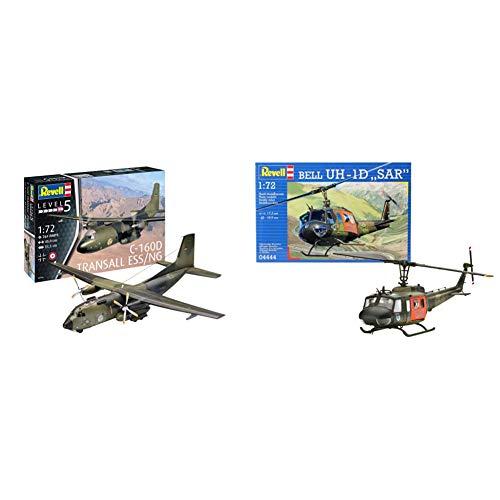 Revell RV03916 14 Modellbausatz C-160 Transall Eloka im Maßstab 1:72, Level 5, Multicolour & Revell_04444 REV-04444 Modelmaking