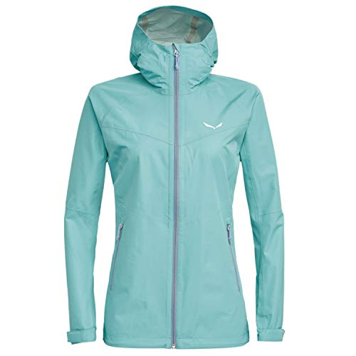 Salewa Aqua 3.0 PTX Jacke Hardshell Regenjacke Damen, Damen Größen:48, Farbe:Hellblau
