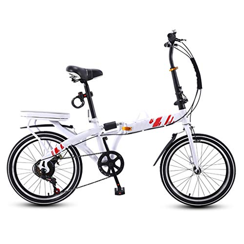Check Out This ZHEDYI 16in Adult Womens Bike Folding Bike, Cruiser Bicycle, 7-Speed Compact Bikes, M...