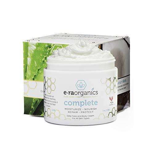 Natural & Organic Face Moisturizer Cream - Advanced 10-In-1 Non Greasy Daily Facial Cream with Aloe...