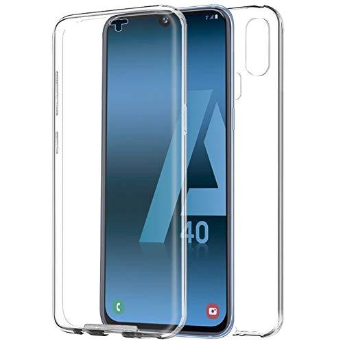 Mb Accesorios Samsung Galaxy A40 Funda DE Silicona Delantera + Trasera Doble 100% Transparente
