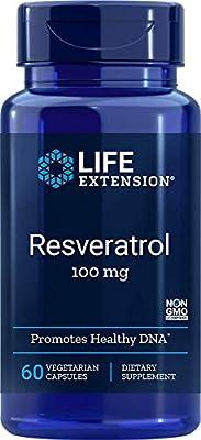 Life Extension Resveratrol, 100mg, 60 Vegetarian Capsules