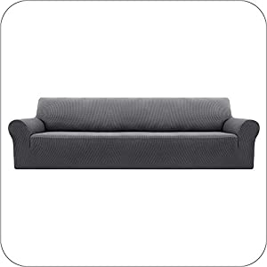 UMI by Amazon Funda Elastica para Sofa Ajustable 4 Plazas Gris