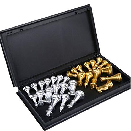 Middeleeuwse Chess Set Met Schaakbord 32 Goud Zilver Chesses, Pieces Magnetic Bordspel Schaakcijfer Sets Szachy Checker