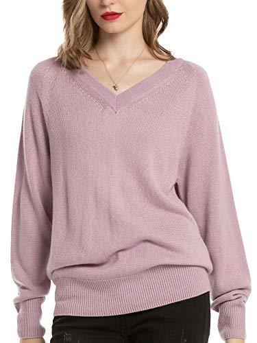 Woolen Bloom Jersey Punto Mujer Básico V Cuello Camisas Manga Larga Chaqueta de Punto Sueter Mujer Jerseys Primavera Verano Otoño Suéter