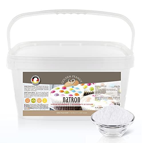 Natron Pulver 10 kg | Premium Natriunhydrogencarbonat | Backsoda | Backpulver | Wasch-Soda | hochreine Lebensmittelqualität aus Deutschland | Golden Peanut