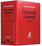 Deutsche Gesetze Premium-Ordner 86 mm in Lederoptik mit integrierter Buchstütze - Heinrich Schönfelder
