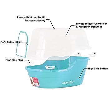 petphabet Maison de Toilette pour Chat Toilette Enveloppée pour Animaux XXL Multiple Couleur Disponible (Turquoise)
