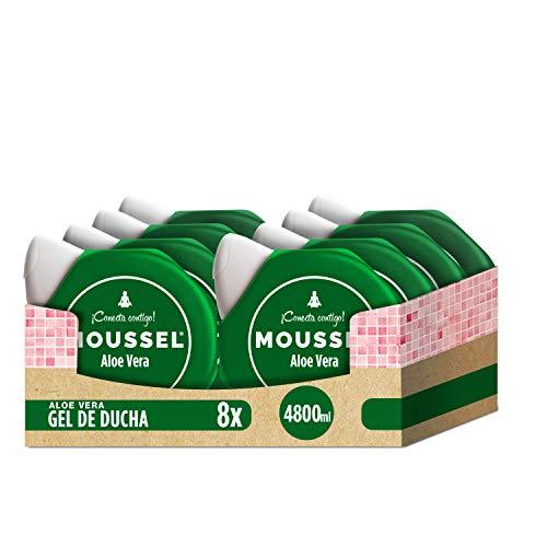 Moussel Gel jabón Aloe Vera - Pack 8 x 600 ml - Total: