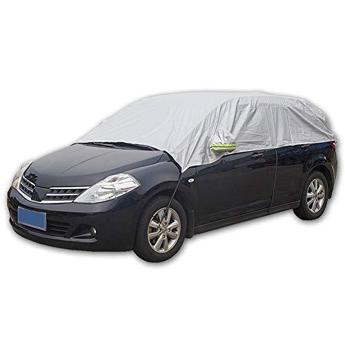 Aumo-mate Half Car Covers Sun Heat Protection Anti Snow Ice Dust Proof Defoliation Sandstorm Car Auto Cover UV Scratch Resistant