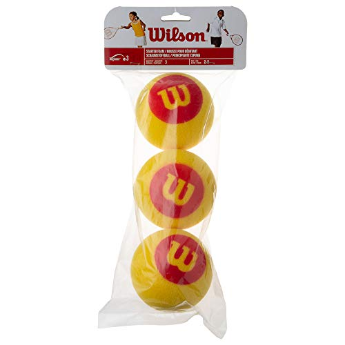 Wilson(ウイルソン) ジュニア・キッズ用 テニスボール スポンジボール STARTER FOAM(スターターフォーム) 3個入り イエローxレッド WRZ258900 ウィルソン