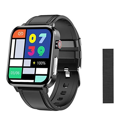 XXH Smart Watch E86IP68 Presión Arterial Impermeable Y Monitoreo De Temperatura, ECG para Hombres, Mujeres Deportivas, Adecuadas para Android iOS,E