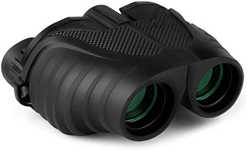 FCYQBF Prismáticos de alta potencia de 10 x 25, compactos HD profesionales/diarios, resistentes al agua, telescopio para adultos, observación de aves, viajes, fútbol, prisma BAK4