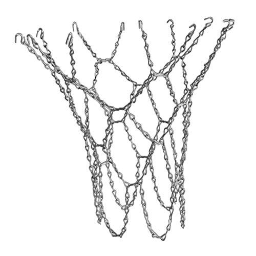 F Fityle Metall Basketballnetz Basketball Net Verzinktes Metallnetz Kettennetz, geeignet für Basketball-Hoop, Basketballkorb - Golden