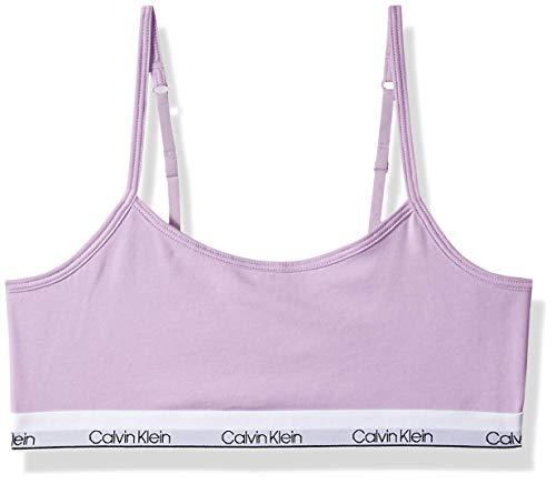 Calvin Klein Big Girls' Modern Cotton Bralette, ck lilac Large (10/12)