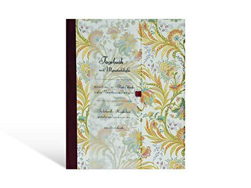 Tagebuch mit Magnetschließe, Poesie-Album DIN A5, 80 Blatt, Lesezeichen, bezogen mit italienischem Papier (Venezianischer Traum)