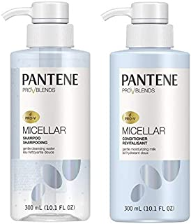 Pantene, Shampoo and Sulfate Free Conditioner Kit, with Micellar Water and Micellar Milk, Cleansing and Moisturizing Pro-V Blends, 10.1 fl oz, Kit