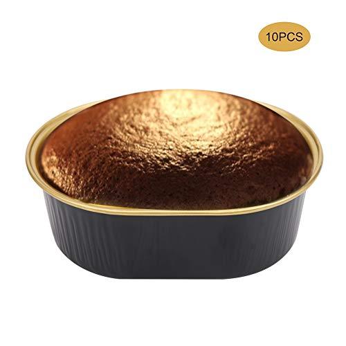 Outil de cuisson antiadhésif, résistant à la chaleur et sûr pour la surface, gobelet à gâteaux, gobelet jetable, pour pâtisserie boulangerie pâtisserie(black)