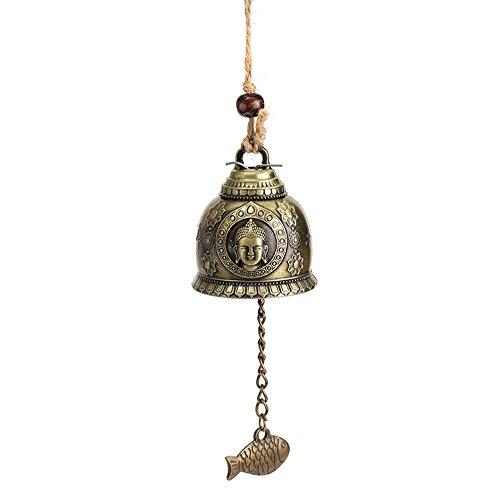 fish Dragon chinois//Poisson Motif Hanging voiture Wind Chime Fortune en alliage de zinc Wind Bell corde de chanvre
