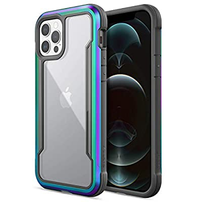 Raptic Shield Case Compatible with iPhone 12 Case & iPhone 12 Pro Case, Shock Absorbing Protection, Durable Aluminum Frame, 10ft Drop Tested, Fits iPhone 12 & 12 Pro, Iridescent