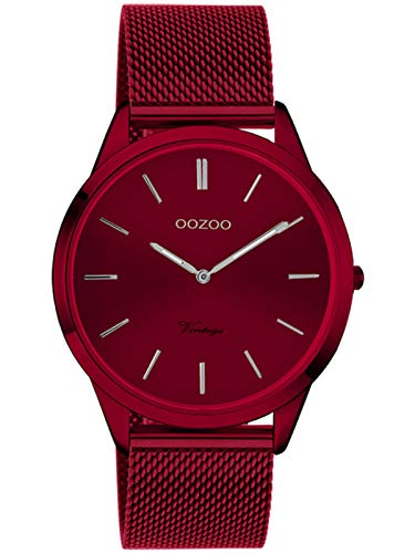 Oozoo Vintage Damenuhr mit Milanaiseband Cherry Lady 38 MM Rot C20006