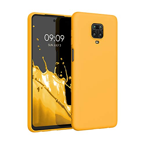 kwmobile Custodia Compatibile con Xiaomi Redmi Note 9S   9 PRO   9 PRO Max - Cover in Silicone TPU - Back Case per Smartphone - Protezione Gommata Giallo Zafferano