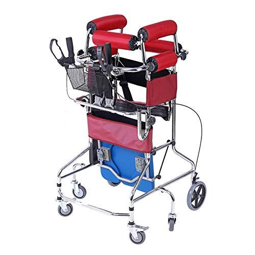 WANGXN Gehhilfe für Behinderte Stehhilfe 6 Räder, höhenverstellbar Trainer für untere Gliedmaßen Überrollen verhindern Unterstützt 200 lbs
