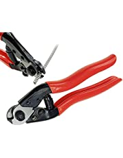 """Muzata Wire Cutters, Stainless Steel Wire Rope Aircraft Bicycle Cable Cutter, Up to 5/32"""" Deck Railing Cable, CR12,Series CT1"""