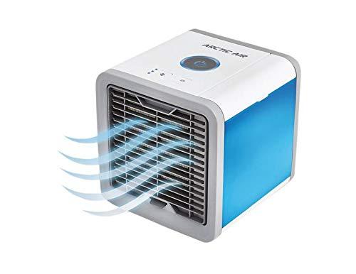 LIVINGTON Arctic Air – Luftkühler mit Verdunstungskühlung – Mobiles Klimagerät mit 3 Stufen & 7 Stimmungslichtern – Mini Klimagerät, Tankvolumen für 8h Kühlung | Das Original aus dem TV