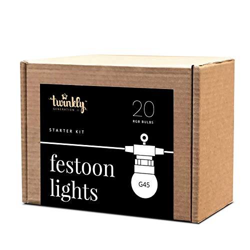 Twinkly Garland Luci LED multicolore - Corda intelligente con 20 lampadine a...