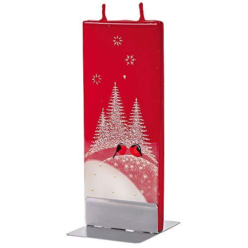 flatyz Deko Kerzen - Besondere Kerzen Zum Verschenken - Handgemachte Kerzen - Flache Kerzen Deko - Lange Brenndauer 3-4 Stunden 60x10x150mm - Zwei Vögelchen