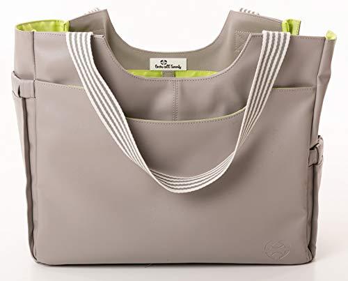 Love All Tennis Damen Tennistasche Schlägertasche Sporttasche Stylische Tote Tasche Multifunktional Grau Gelb