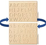 The Kiddy Depot - English Alphabet Uppercase & Lowercase Tracing Reversible Writing Practice Board for Preschool & Montessori Puzzle with Dummy Pencil (Front & Back)