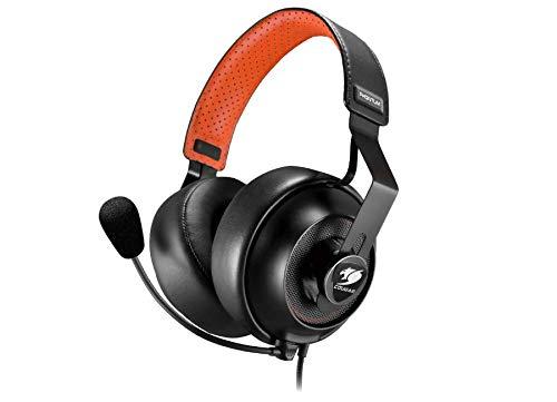 COUGAR Gaming Phontum S Binaural Kopfband Schwarz, Orange - Headsets (PC/Spiele, Binaural, Kopfband, Schwarz, Orange, Verkabelt, 1,2 m)