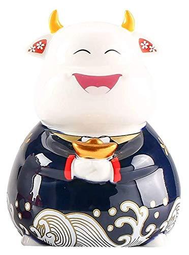 Desktop-Skulptur Dekorative kuh statue, tier schmuck sparschwein bank dekoration geld rettung sternzeichen tier figur ox jahr ornament skulptur lunar neujahr geschenk
